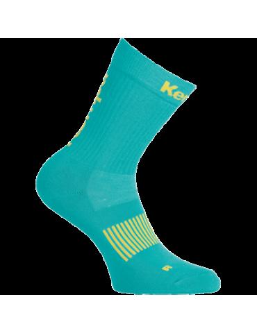 Chaussettes Logo Classic turquoise/jaune Kempa | Le spécialiste handball espace-handball.com
