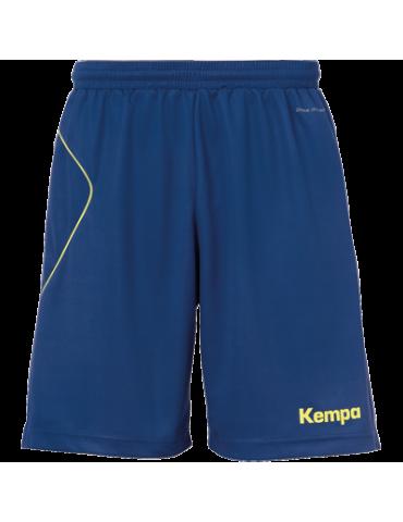 Short Curve bleu/jaune Kempa | Le spécialiste handball espace-handball.com